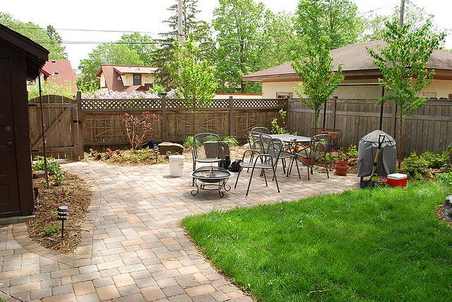 backyard in single family rental home