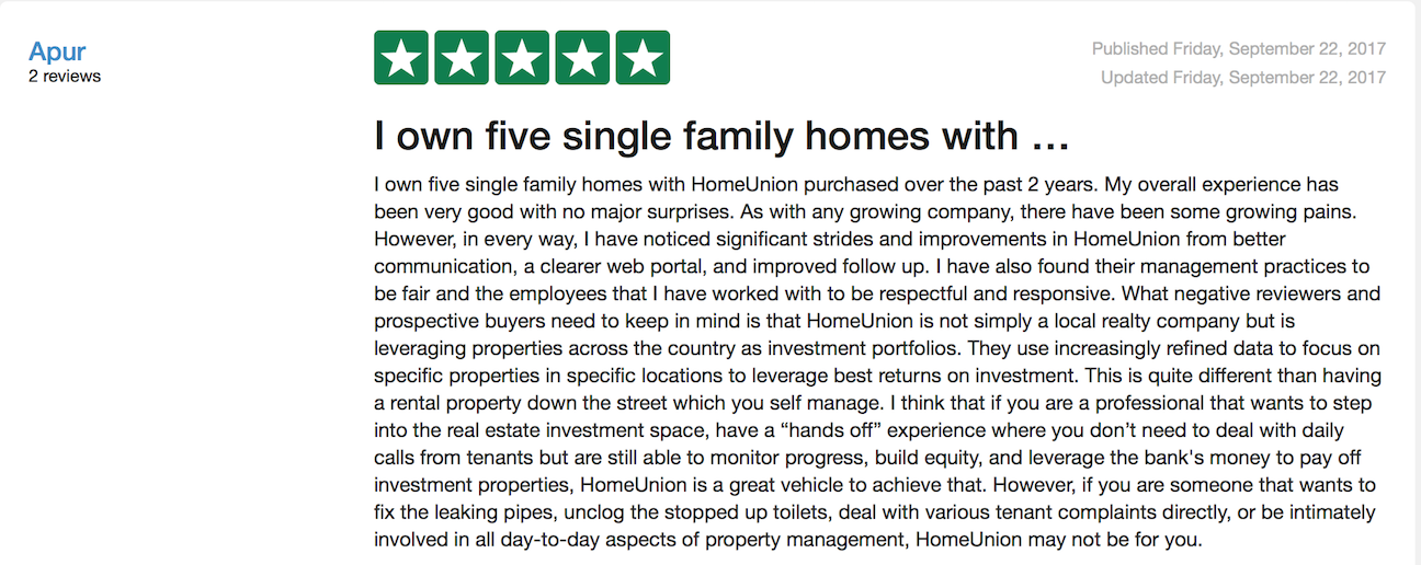 TrustPilot Customer Reviews